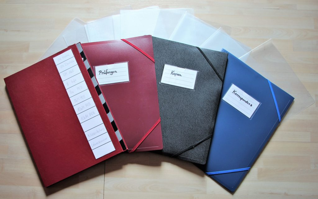 Das 4-Ordner-System zur Materialorganisation - lehrer-zeit.de