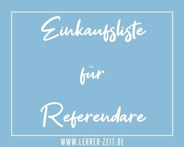 Einkaufsliste für Referendare - lehrer-zeit.de
