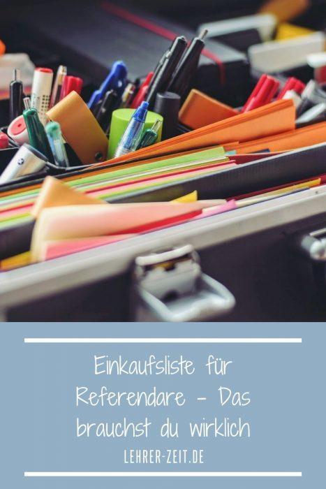 Einkaufsliste Referendariat